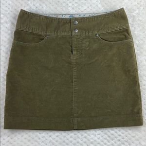 Athleta Olive Corduroy Skirt